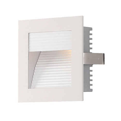 Elk WZ-102W Steplight Wall Recessed for New Construction (Xenon) with Lamp - Corrugated Plate/White Trim