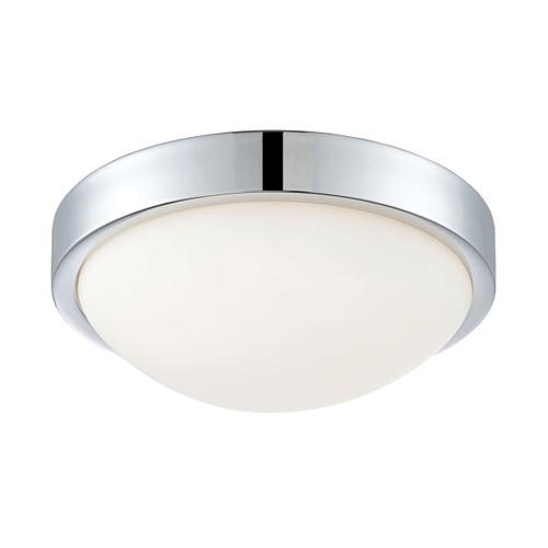 ELK Lighting FML400-10-15 Sydney 1-Light Flush Mount in Chrome with White Opal Glass - Integrated LED