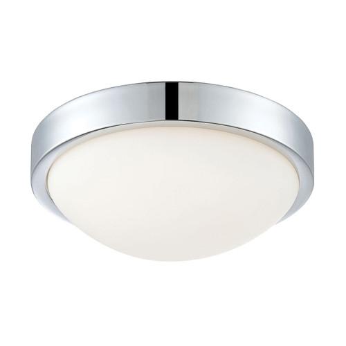 ELK Lighting FML401-10-15 Sydney 1-Light Flush Mount in Chrome with White Opal Glass - Integrated LED