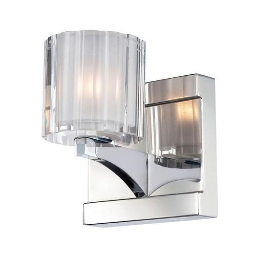 Elk BV3001-0-15 Tiara 1 Light Vanity with Clear Crystal Glass in Chrome