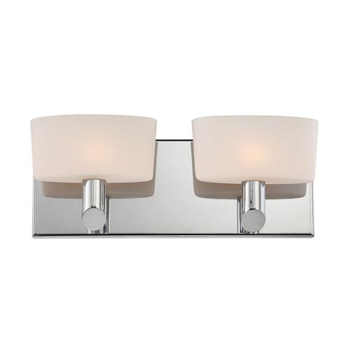 Elk BV6022-10-15 Toby 2 Light Vanity with White Opal Glass in Chrome