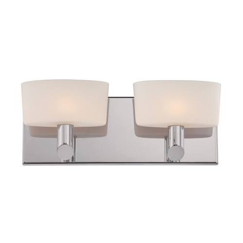 ELK Lighting BV6022-10-16M Toby 2-Light Vanity Sconce in Satin Nickel with White Opal Glass