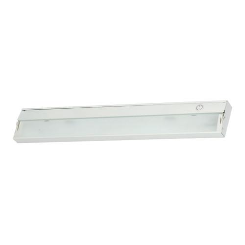 ELK Lighting ZL026RSF Zeeline 3-Light Under-cabinet Light in White with Diffused Glass