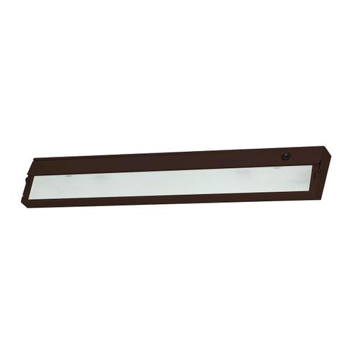 ELK Lighting HZ326RSF ZeeLite 3-Light Under-cabinet Light in Bronze with Diffused Glass