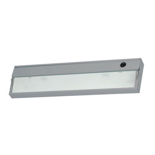 ELK Lighting HZ117RSF ZeeLite 2-Light Under-cabinet Light in Stainless Steel with Diffused Glass