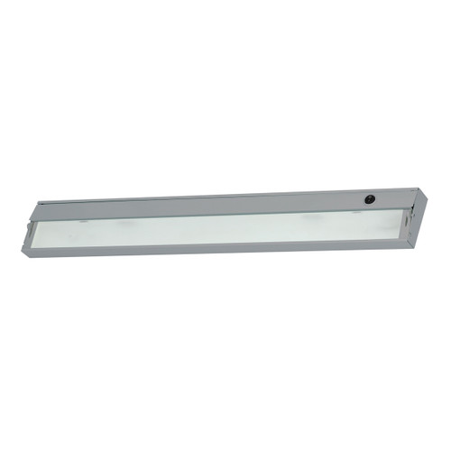 ELK Lighting HZ135RSF ZeeLite 4-Light Under-cabinet Light in Stainless Steel with Diffused Glass