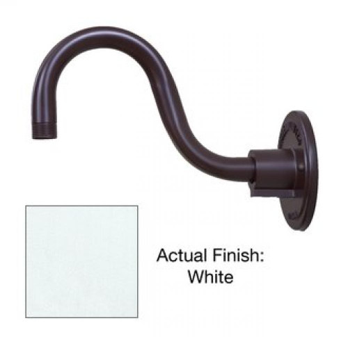 Millennium Lighting RGN10-WH R Series Industrial Goose Neck Wall Mount in White