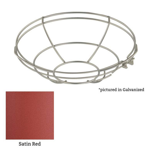 """Millennium Lighting RWG12-SR R Series Satin Red 12"""" Protective Light Wire Guard"""