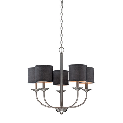 Millennium Lighting 3115-BPW Jackson Chandelier in Brushed Pewter with Charcoal Shade