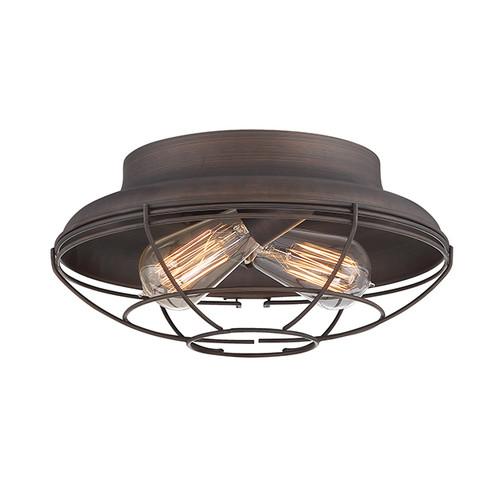 Millennium Lighting 5382-RBZ Neo-Industrial Flushmount in Rubbed Bronze