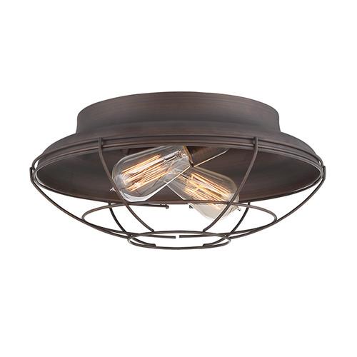 Millennium Lighting 5384-RBZ Neo-Industrial Flushmount in Rubbed Bronze
