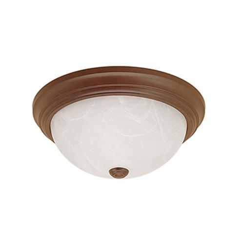 Millennium Lighting 565-BZ Faux Alabaster Flushmount in Bronze