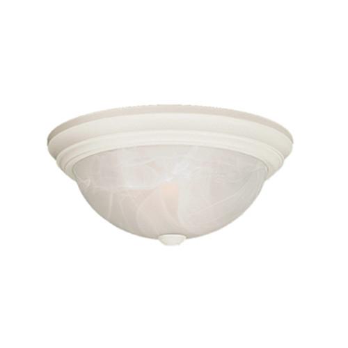 Millennium Lighting 565-WH Faux Alabaster Flushmount in Textured White