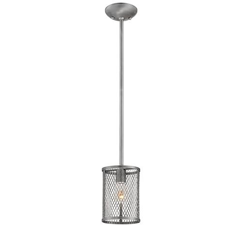 Millennium Lighting 3261-BPW Akron Mini Pendant in Brushed Pewter