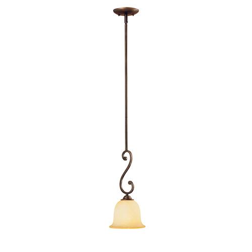Millennium Lighting 1041-RBZ Courtney Lakes Turinian Scavo Mini Pendant in Rubbed Bronze