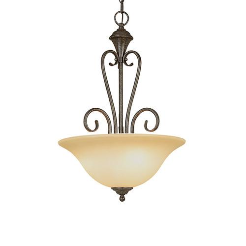 Millennium Lighting 6063-BG Devonshire Florentine Scavo Pendant in Burnished Gold
