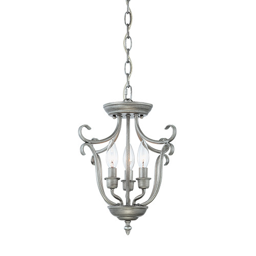 Millennium Lighting 1323-RS Fulton Pendant in Rubbed Silver