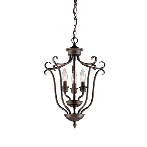 Millennium Lighting 1333-RBZ Fulton Pendant in Rubbed Bronze