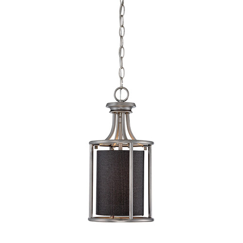 Millennium Lighting 3141-BPW Jackson Pendant in Brushed Pewter with Charcoal Shade