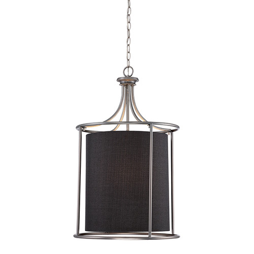Millennium Lighting 3143-BPW Jackson Pendant in Brushed Pewter with Charcoal Shade