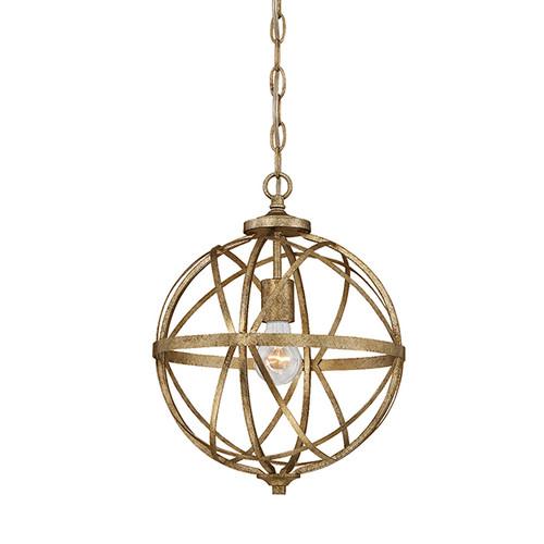 Millennium Lighting 2281-VG Lakewood Pendant in Vintage Gold