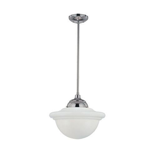 Millennium Lighting 5361-CH Neo-Industrial Opal White Schoolhouse Pendant in Chrome