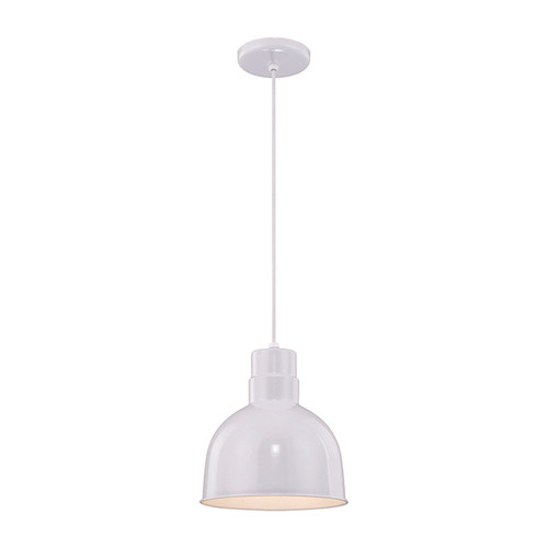 "Millennium Lighting RDBC10-WH R Series 10"" Industrial Nautical Pendant with White Finish"