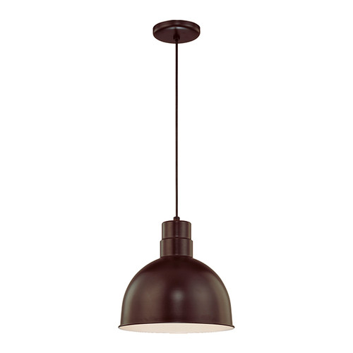 """Millennium Lighting RDBC12-ABR R Series 12"""" Industrial Nautical Pendant with Bronze Finish(Wire Guard RWG12 is Optional)"""