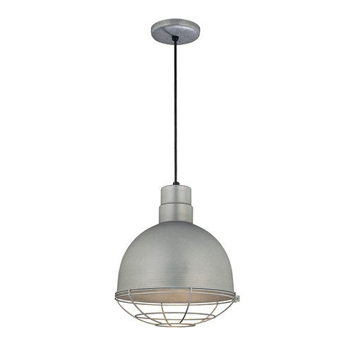 "Millennium Lighting RDBC12-GA R Series 12"" Industrial Nautical Pendant with Galvanized Steel Finish(Wire Guard RWG12 is Optional)"