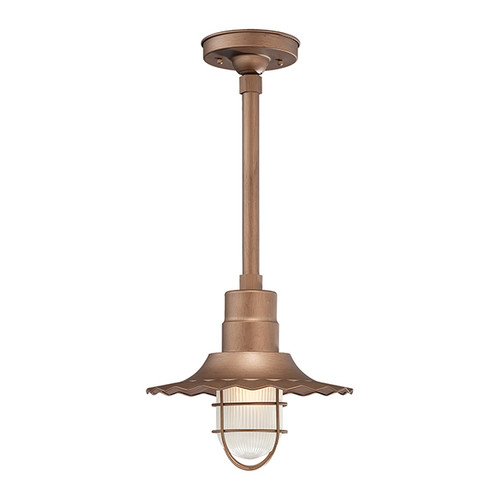"""Millennium Lighting RRWS12-CP R Series 12"""" Industrial Pendant with Ribbed Shade and Copper Finish"""
