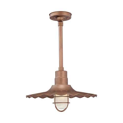 """Millennium Lighting RRWS18-CP R Series 18"""" Industrial Pendant with Ribbed Shade and Copper Finish"""