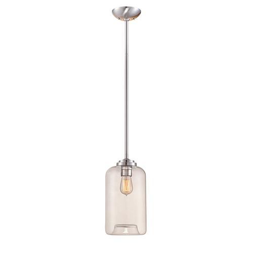 Millennium Lighting 5721-BN Clear Mini Pendant in Brushed Nickel