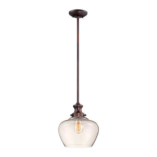Millennium Lighting 5711-RBZ Clear Mini Pendant in Rubbed Bronze