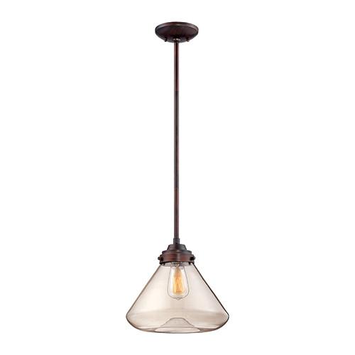Millennium Lighting 5701-RBZ Clear Mini Pendant in Rubbed Bronze