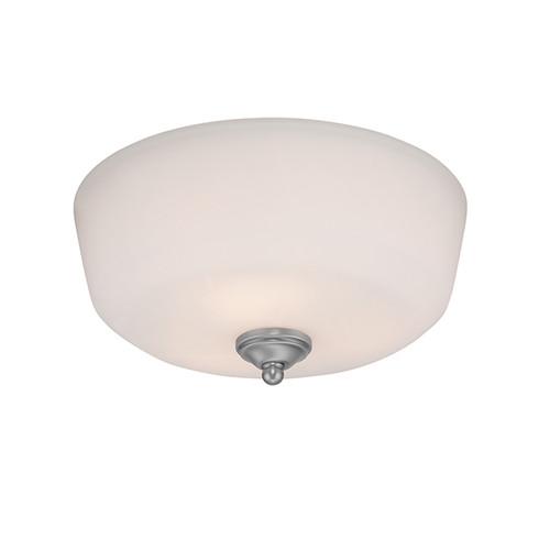 Millennium Lighting 3093-BPW Lansing Etched White Semi Flushmount in Brushed Pewter