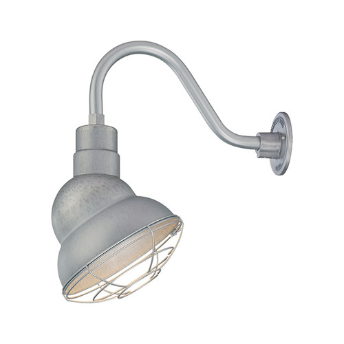 "Millennium Lighting RES10-GA R Series 10"" Galvanized Steel Industrial Warehouse Shade - Shade Only"