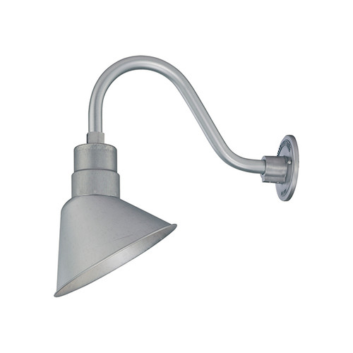Millennium Lighting RAS10-GA(Shade Only) R Series Angle Warehouse Shade Light in Galvanized. Wall Mount-Goose Neck (RGN) and Wire Guard (RWG) Sold Separately