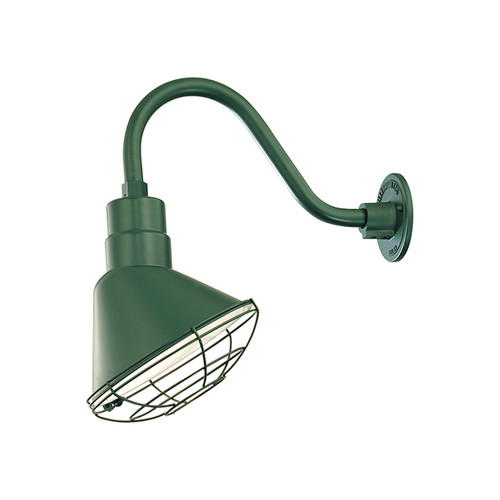 Millennium Lighting RAS10-SG (Shade Only)R Series Angle Warehouse Shade Light in Satin Green. Wall Mount-Goose Neck (RGN) and Wire Guard (RWG) Sold Separately