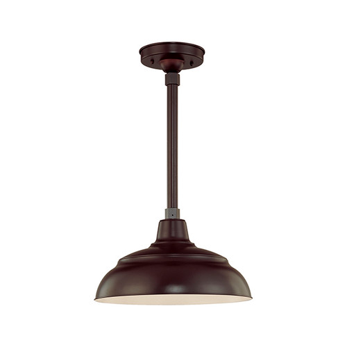 "Millennium Lighting RWHS14-ABR R Series 14"" Diameter Industrial Bronze Dome Shade - Dome Shade Only(May be ceiling hung with stem RS-, canopy kit RSCK and Wire Guard RWG . May be wall hung with Goose Neck RGN)"