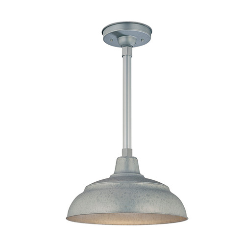 """Millennium Lighting RWHS14-GA R Series 14"""" Diameter Industrial Galvanized Steel Dome Shade - Dome Shade Only(May be ceiling hung with stem RS-, canopy kit RSCK and Wire Guard RWG . May be wall hung with Goose Neck RGN)"""