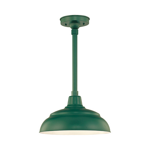 """Millennium Lighting RWHS14-SG R Series 14"""" Diameter Industrial Satin Green Dome Shade - Dome Shade Only(May be ceiling hung with stem RS-, canopy kit RSCK and Wire Guard RWG . May be wall hung with Goose Neck RGN)"""