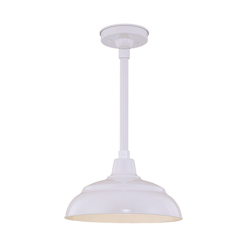 """Millennium Lighting RWHS14-WH R Series 14"""" Diameter Industrial White Dome Shade - Dome Shade Only(May be ceiling hung with stem RS-, canopy kit RSCK and Wire Guard RWG . May be wall hung with Goose Neck RGN)"""