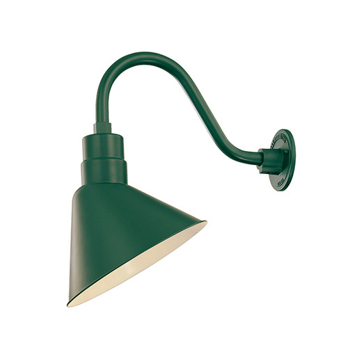 Millennium Lighting RAS12-SG(Shade Only)  R Series Angle Warehouse Shade Light in Satin Green. Wall Mount-Goose Neck (RGN) and Wire Guard (RWG) Sold Separately