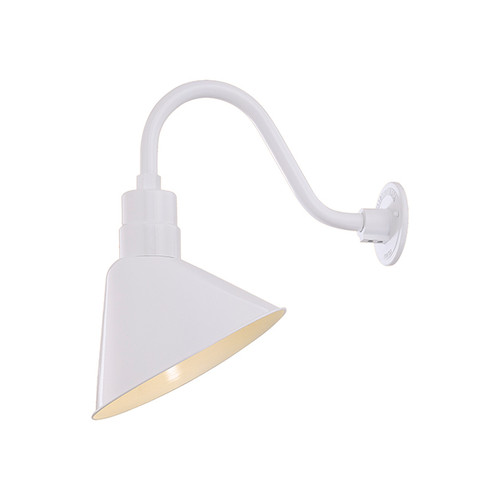 Millennium Lighting RAS12-WH(Shade Only)  R Series Angle Warehouse Shade Light in White. Wall Mount-Goose Neck (RGN) and Wire Guard (RWG) Sold Separately