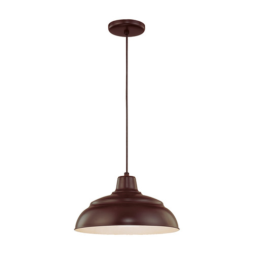 "Millennium Lighting RWHC14-ABR R Series Warehouse Industrial Pendant in Architectural Bronze - 14"" Diameter (Wire Guard RWG Sold Separately)"