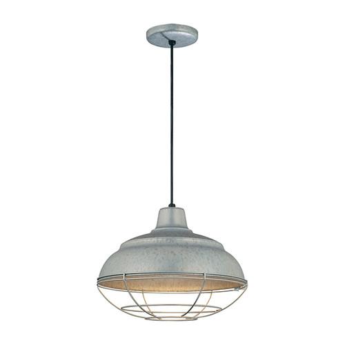 "Millennium Lighting RWHC14-GA R Series Warehouse Industrial Pendant in Galvanized Steel - 14"" Diameter((Wire Guard RWG Sold Separately)"
