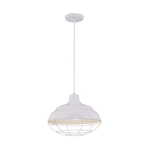 """Millennium Lighting RWHC14-WH R Series Warehouse Industrial Pendant in White - 14"""" Diameter((Wire Guard RWG Sold Separately)"""