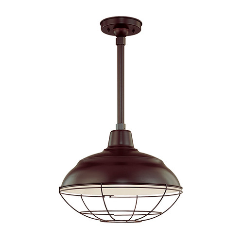 "Millennium Lighting RWHS17-ABR R Series 17"" Diameter Industrial Bronze Dome Shade - Dome Shade Only(May be ceiling hung with stem RS-, canopy kit RSCK and Wire Guard RWG . May be wall hung with Goose Neck RGN)"