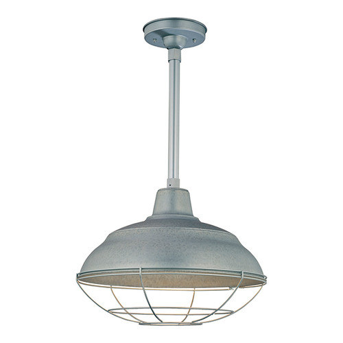 "Millennium Lighting RWHS17-GA R Series 17"" Diameter Industrial Galvanized Steel Dome Shade - Dome Shade Only(May be ceiling hung with stem RS-, canopy kit RSCK and Wire Guard RWG . May be wall hung with Goose Neck RGN)"