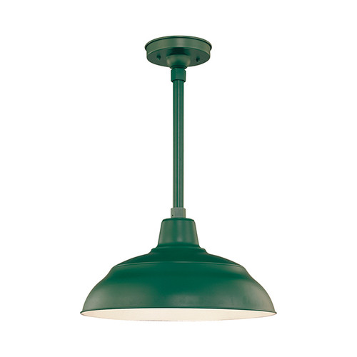"Millennium Lighting RWHS17-SG R Series 17"" Diameter Industrial Satin Green Dome Shade - Dome Shade Only(May be ceiling hung with stem RS-, canopy kit RSCK and Wire Guard RWG . May be wall hung with Goose Neck RGN)"